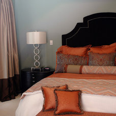 Contemporary Bedroom by Valerie Davis