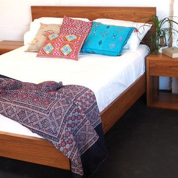 Paul's Recycled Timber Floating Bed