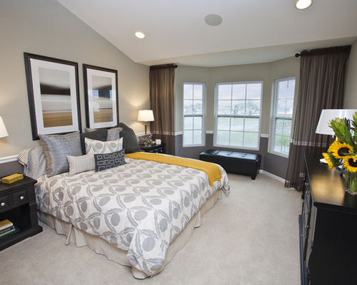 Yellow And Gray Bedroom Gorgeous Yellow And Gray Bedroom  Houzz Decorating Design