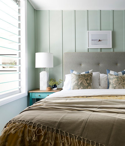 Beach Style Bedroom by Brett Mickan Interior Design