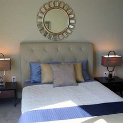 contemporary bedroom by Pearle Staging and Design