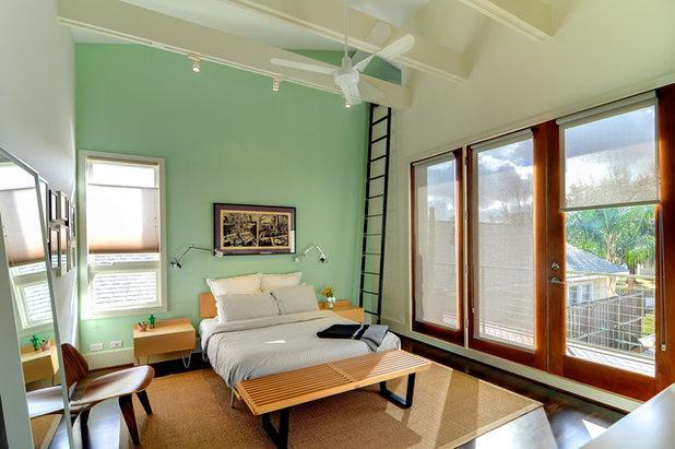 Contemporary Bedroom by brett zamore design