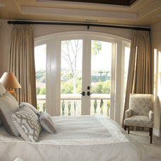 Traditional Bedroom by Pacific Coast Drapery Manufacturing