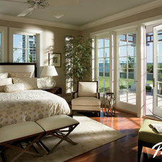 Contemporary Bedroom by Pella Windows and Doors