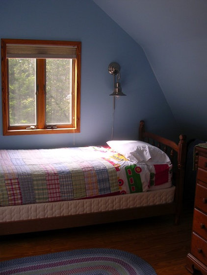contemporary bedroom Penobscot Bay Cottage