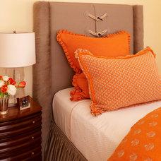 Transitional Bedroom by Robert Burg Design