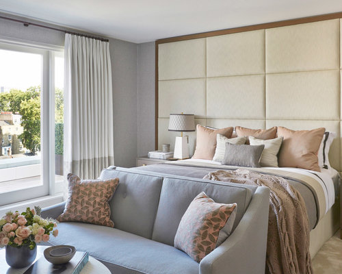 266 Peach And Gray Bedroom Design Ideas Remodel Pictures Houzz