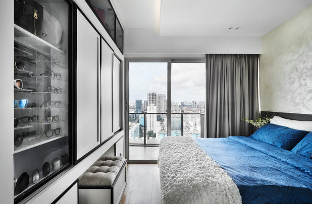 Contemporary Bedroom by AMP DESIGN CO. PTE.LTD