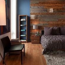 Wood Paneling behind bed