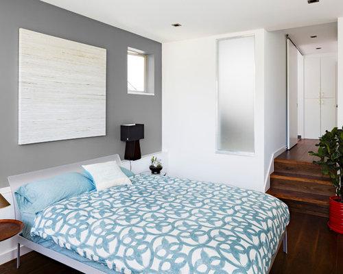 Gray And Purple Bedroom   Houzz