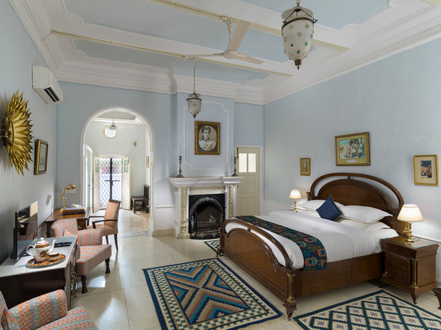 Transitional Bedroom by Deepak Aggarwal Photography