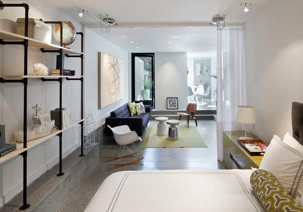 Contemporary Bedroom by Three Legged Pig Design