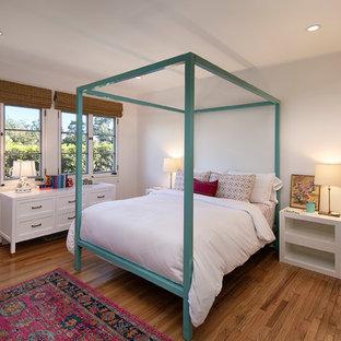 Example Of A Tuscan Bedroom Design In Santa Barbara