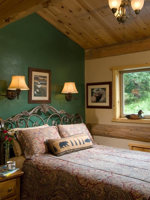 Green accent wall home design ideas pictures remodel and for Bedroom interior designs green