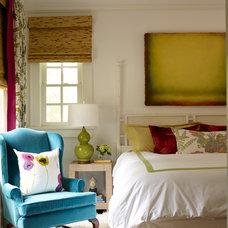 Transitional Bedroom by Katie Rosenfeld Design