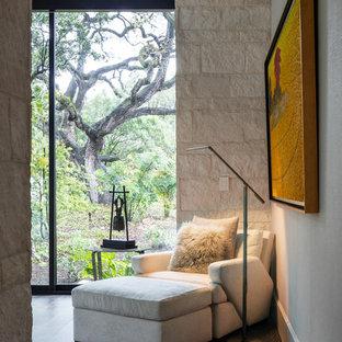 オースティンのコンテンポラリースタイルのおしゃれな寝室のレイアウト