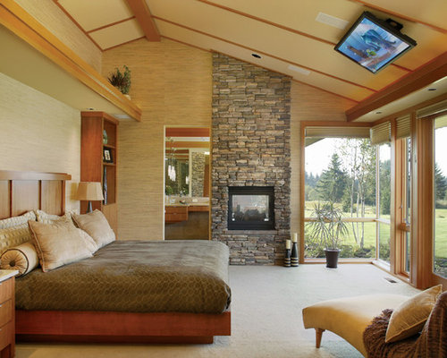 Fireplace To Slanted Angled Ceiling Houzz