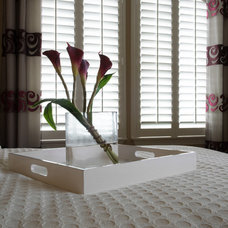 Contemporary Bedroom by Rockwood Shutters, Blinds and Shades