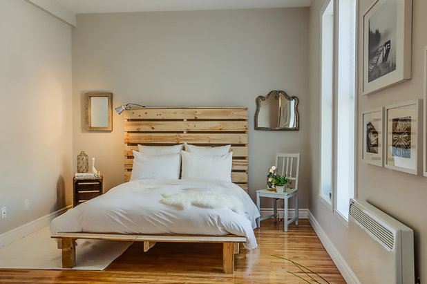 Éclectique Chambre by Le Blanc Home Staging & Relooking