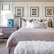 Transitional Bedroom by Duet Design Group