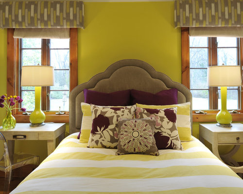 yellow purple bedroom purple and yellow houzz 13893
