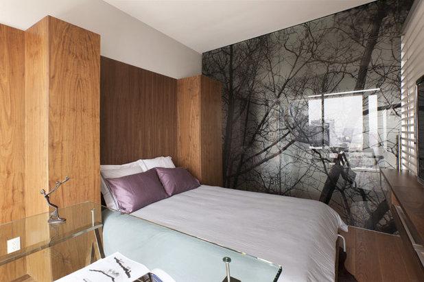 エクレクティック 寝室 by vgzarquitectura y diseño sc