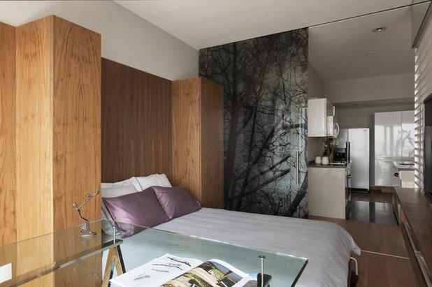 Ecléctico Dormitorio by vgzarquitectura y diseño sc