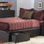 Float King Size Bed W Mattress Support Wenge