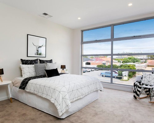 This Is An Example Of A Contemporary Bedroom In Adelaide.