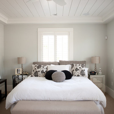Inspiration for a contemporary bedroom remodel in Vancouver with gray walls