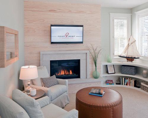 maritime schlafzimmer mit kamin ideen design bilder houzz. Black Bedroom Furniture Sets. Home Design Ideas