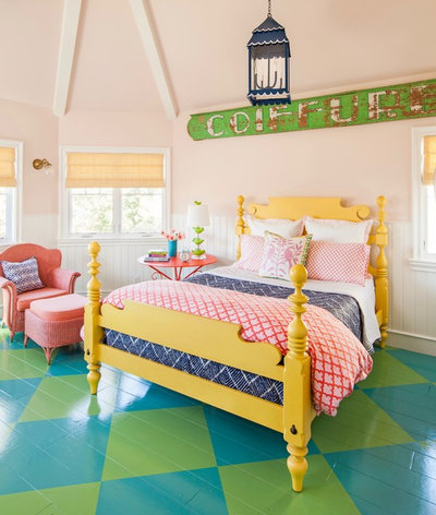 Eclectic Bedroom by Alison Kandler Interior Design