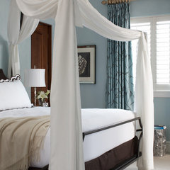 mediterranean bedroom by Slifer Designs