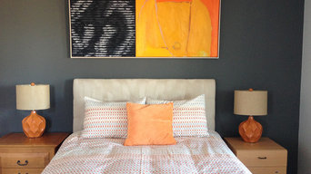 Pop of Orange Bedroom
