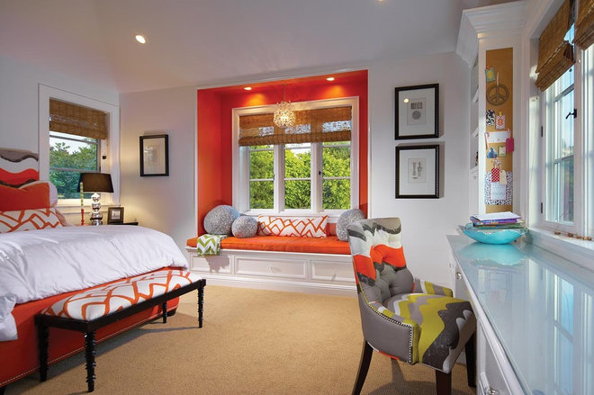 eclectic bedroom by Patterson Custom Homes
