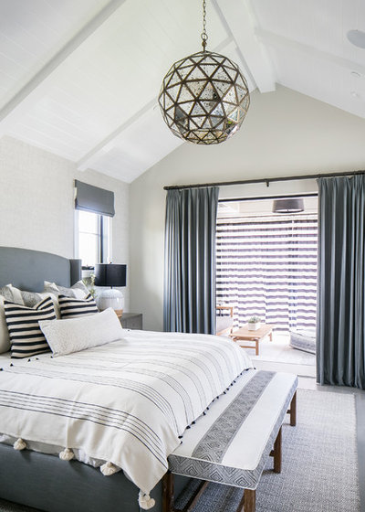 Transitional Bedroom by William Guidero Planning and Design