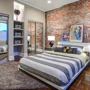 This Is An Example Of A Medium Sized Urban Guest Bedroom In St Louis With  Green
