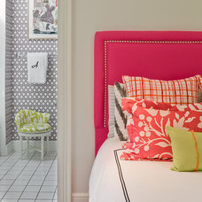 Eclectic Bedroom by Katie Rosenfeld Design