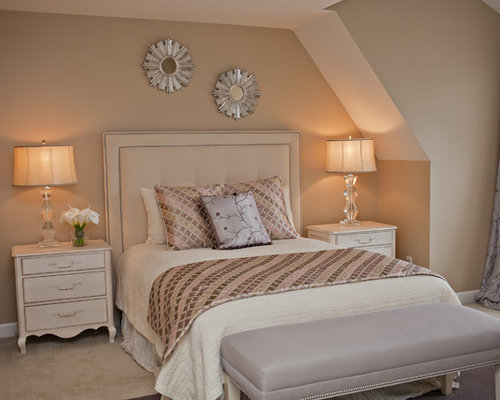 Beige And White Bed Houzz