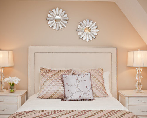 Peach bedrooms houzz for Blue and peach bedroom ideas