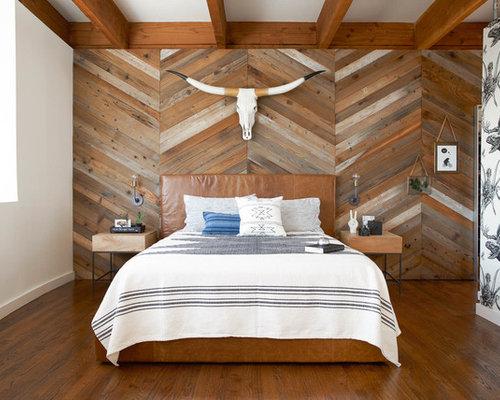 Bedroom   Southwestern Master Dark Wood Floor Bedroom Idea In San Francisco  With White Walls