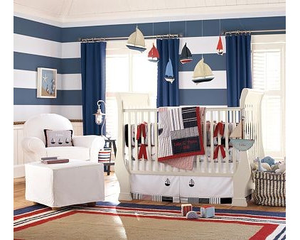 Traditional Bedroom Pottery Barn Sailor Room
