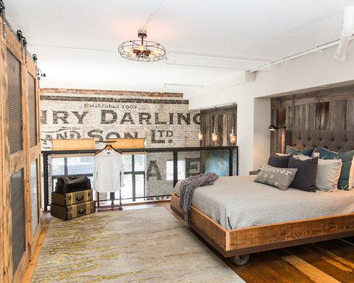 Camera da letto stile loft industriale foto e idee per - Letto stile industriale ...