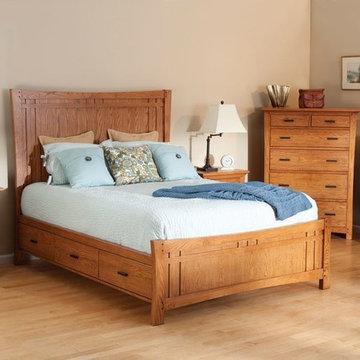 Prairie Storage Bed-Summer Finish