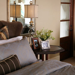 eclectic bedroom by Anne Rue Interiors