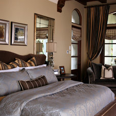 Mediterranean Bedroom by Anne Rue Interiors