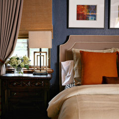 contemporary bedroom by Anne Rue Interiors