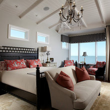 a red accent bedroom