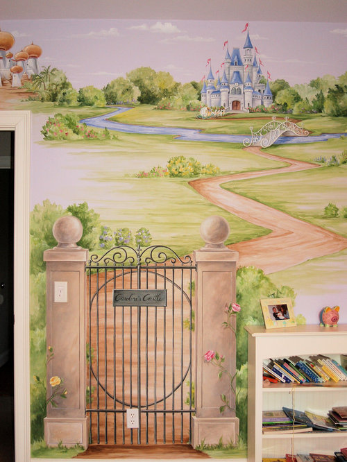 Fairy mural home design ideas pictures remodel and decor for Fairy castle mural