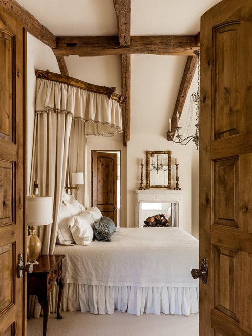 mediterrane schlafzimmer mit tunnelkamin - ideen, design & bilder